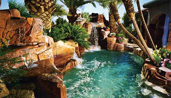 Cool Backyard Pools : Pool Anthony Sylvan Pools Backyard Pool Landscaping Ideas Design Pool