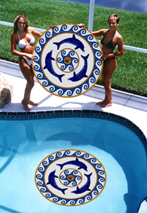 Aqua Art Swimming Pool Mosaics Large Pool Art
