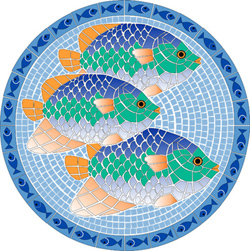 1011 - Large Mosaic Tropical Fish - 1011