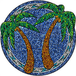 1051 - Large Mosaic Palm Trees - 1051