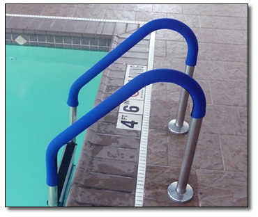 Rail Grip For In Ground Or Aboveground Pool Ladders And Rails