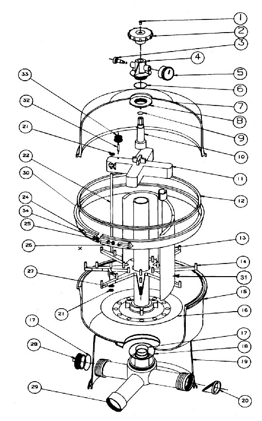 pool check valve with diagram