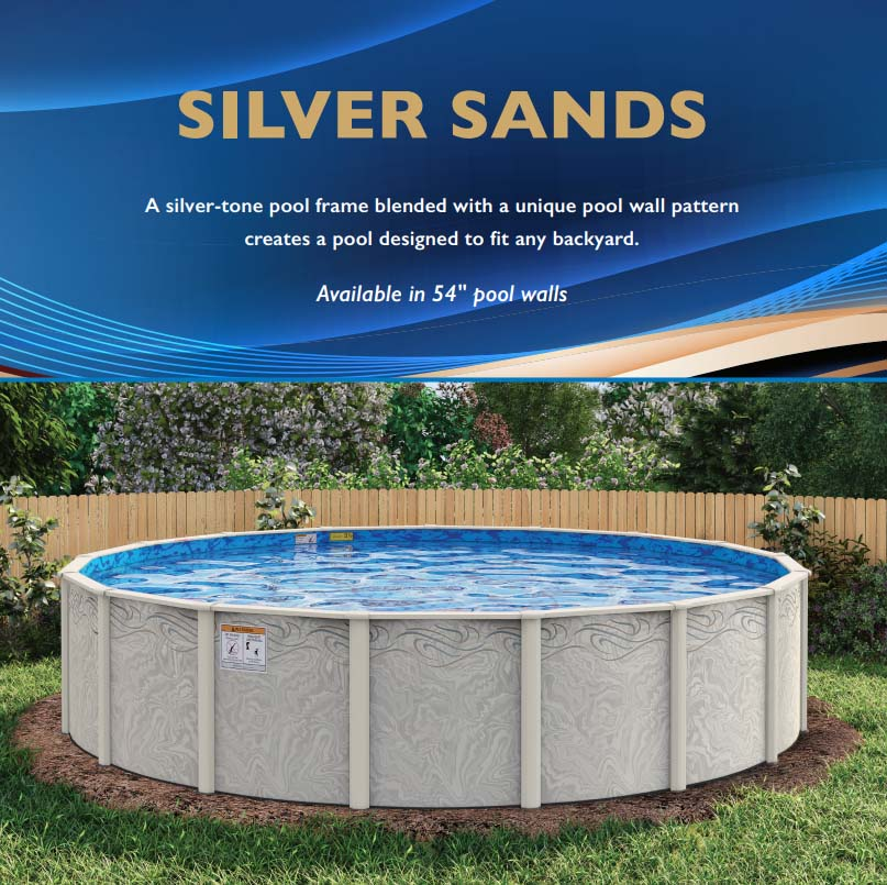 ABOVE GROUND SWIMMING POOL - SILVER SANDS GALVANIZED STEEL/RESIN - 8 ...