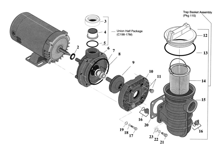 Sta Rite Jwpa Series 1 1 2 Hp Store Swimming Pool Products Pool Parts Pumps