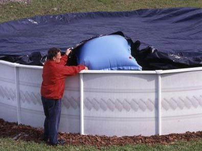 Air pillows for above ground pool covers for Toile bassin