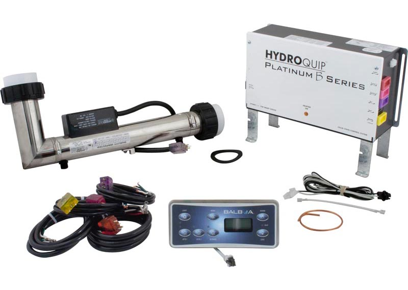 58-355-8310 - Hydro-Quip Platinum B Control System - 2 Pumps and Blower or 3 Pumps, L Shaped 5.5 KW Heater, 60 inch Cord, HT-701S Topside - PS6503B - 58-355-8310