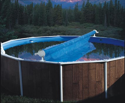 Solar cover reels above ground for Above ground swimming pool cover