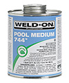 IPS-60-728 - Weld-On 744 - Medium Bodied PVC Cement - Clear - 1 Pint - IPS-60-728