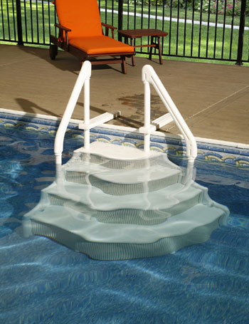 Swimming Pool Steps Grand Entrance Above Ground Pool Step
