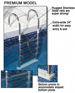 swimming pool ladders above ground pools deck mount - Above Ground Pool Steps For Decks