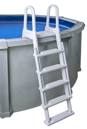 Swimming Pool Steps - A-Frame Flip-Up Pool Ladder - Above ...