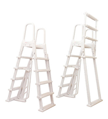 Swimming Pool Steps - A-Frame Flip-Up Pool Ladder - Above Ground Pools