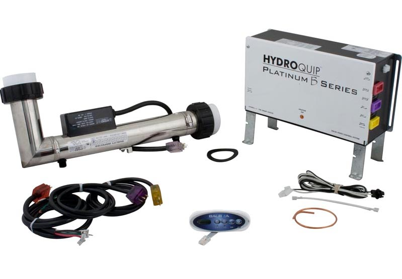 58-355-8232 - Hydro-Quip Platinum B Control System - 2 Pumps, L Shaped 5.5 KW Heater, 24 inch Cord, Eco-200 Topside - PS6502B - 58-355-8232