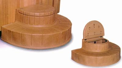 Spa Step & Storage - Rounded