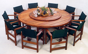 Winton Round Table & Saddlers Deluxe Chair