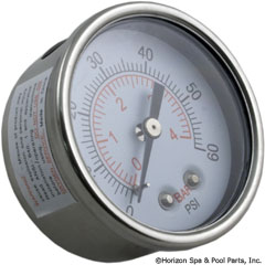 14-270-1073 - Pressure Gauge 1/4 Inch Mpt, 0-60psi, Back Mount SUB WITH PART 17-555-1018 - Replaced By Part 17-555-1018 - 830-4000SS - UPC - 806105281616 - 14-270-1073