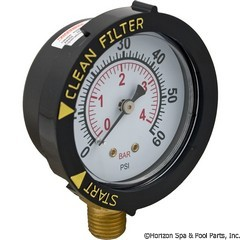 17-110-1100 - Pressure Gauge 1/4 Inch Mpt, 0-60psi, Bottom Mount SUB WITH PART 17-555-1010 - Replaced By Part 17-555-1010 - 190058 - UPC - 788379704346 - 17-110-1100