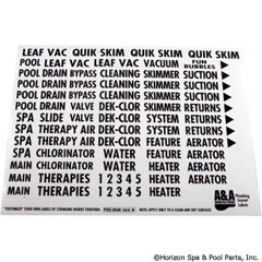 27-106-1200 - Plumbing Labels, A & A Manufacturing - 777704 - UPC - 818965012996 - 27-106-1200