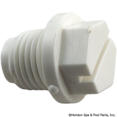 27-253-1074 - 1/4 Inch plug (abs) White, 1-1/2 Inch & 2 Inch Valves - E-15-S1 - 27-253-1074