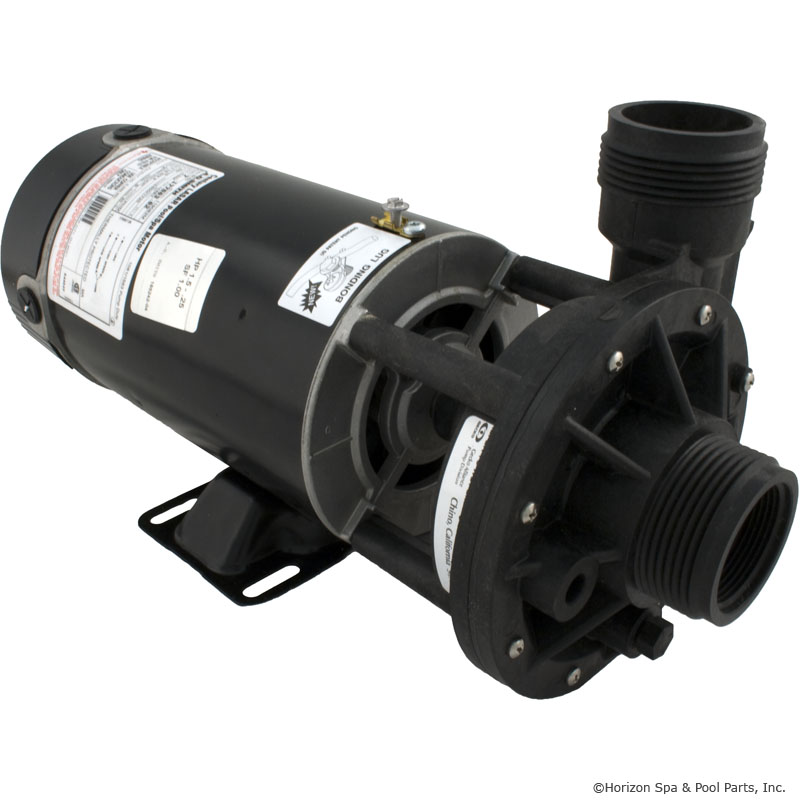 02115000 - Pump Assy, AQUAFLO FMHP, Side Discharge, 1.5HP, 2 Speed, 115V, 48 Frame, 1-1/2 Inch MBT In/Out, No Unions, No Cord - 02115000