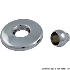 55-410-1330 - GG Mini Jet Thd Escutcheon & Eyeball Assy, Metal Chrome - 28020PC - 55-410-1330