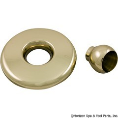 55-410-1335 - GG Mini Jet Thd Escutcheon & Eyeball Assy, Metal Brass - 28020PB - 55-410-1335