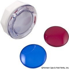 57-270-1200 - Wall Fitting,3 3/4 Inch Hole Size,5 Inch Face,w/red & blue lenses - 630-K005 - UPC - 806105107145 - 57-270-1200