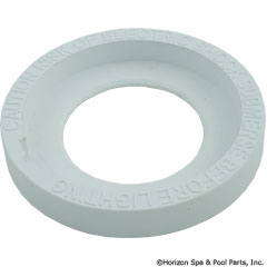 57-330-1003 - Face Ring, UL Warning, White PAL-2000 - 39-P100-62 - 57-330-1003