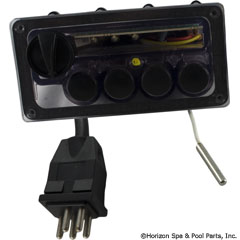 58-319-1002 - Command Center,4 Button,120v Panel,10`Cord, No Label - CC4-120-10B-00 - 58-319-1002