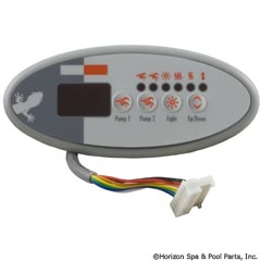 58-337-1570 - Panel,TSC-9/K-9 Sm Oval,4-Button,LED,Dual Pump,S Class - BDLTSC9PPD - 58-337-1570