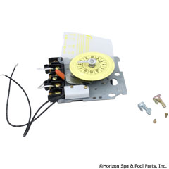 59-155-1210 - Timer Mechansim ONLY, Intermatic, T104, DPST, 230v, 24hr, w/ Fireman Switch - T104M201 - UPC - 078275124202 - 59-155-1210