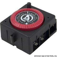 59-155-1305 - 24 Hr. Panel Mount Timer, 120vac, PF & RC Series W/Override - PB913N66 - 59-155-1305