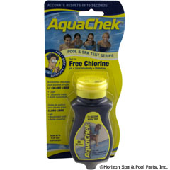 82-128-1000 - Test Strips, AquaChek Yellow 4-in-1, Free Chlorine, 50 ct - 511242A - UPC - 090944012429 - 82-128-1000