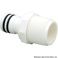 87-100-1318 - Quick Disconnect Plug, NPTM, Plastic, with 2 O-rings - D23 - UPC - 738919001084 - 87-100-1318