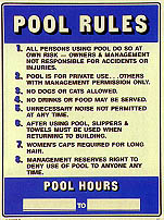 Pool Rules & Hours # 1