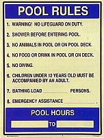 Pool Rules & Hours # 2
