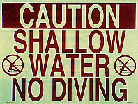 Caution Shallow Water