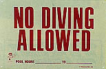 No Diving Allowed