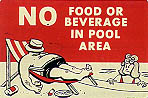 No Food or Beverage In Pool
