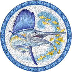 1221 - Large Mosaic Sailfish - 1221