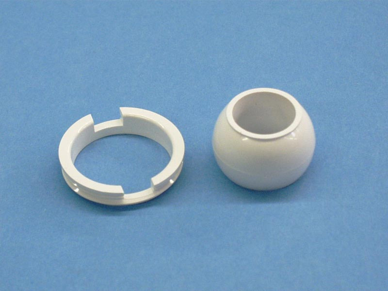 10-3710 - Jet Eyeball Assy,ITT,Micro Jet,w/EyeBall & Retain Ring,White - 10-3710