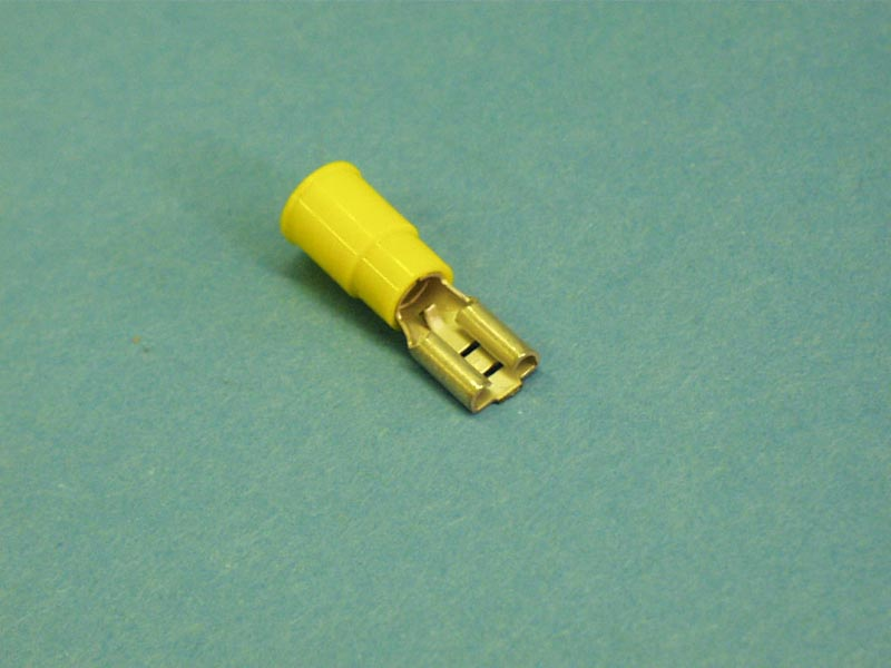12-10 - Wire Terminals,.250 Spade,12-10 Gau,Yellow,(25 Pk) - 12-10
