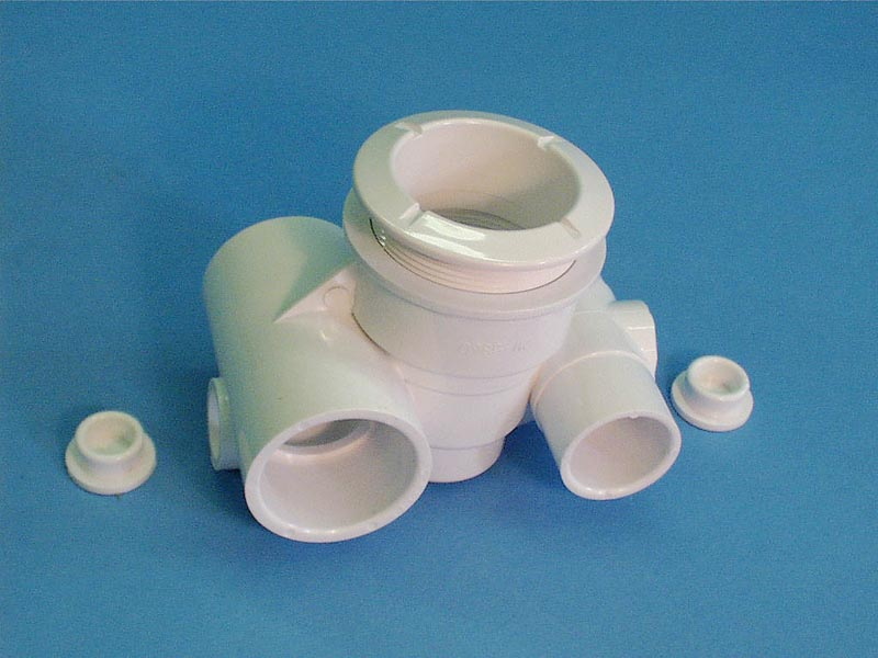 210-5860 - Jet Body Assy,WATERW,Poly,1 Inch S Air x1-1/2 Inch S Water,w/2 Plugs - 210-5860