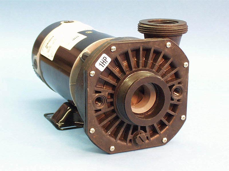 300-3010SD - Pump Assy, Waterway Hi-Flo, 48Y Frame, Side Discharge, 1HP, 2Speed,115V,11.0/2.9Amp, 2 Inch MBT In/2 Inch MBT(1-1/2 Inch FPT)Out, No Unions, No Cord - 300-3010SD