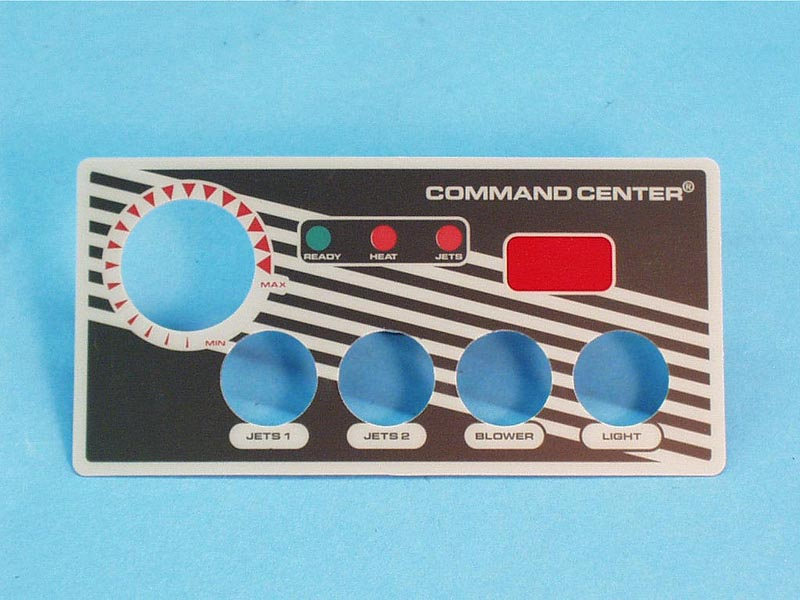 30191BM - Spa Side Overlay,TECMARK,Command Center,4BTN,w/Temp Display - 30191BM