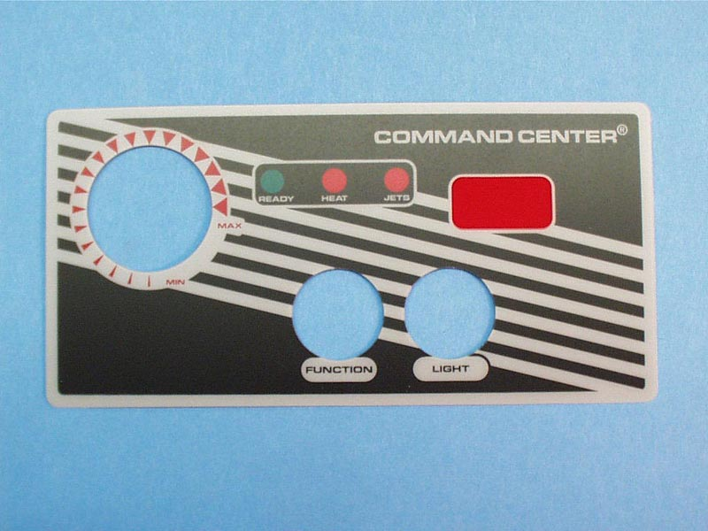 30215BM - Spa Side Overlay,TECMARK,Command Center,2BTN,w/Temp Display - 30215BM