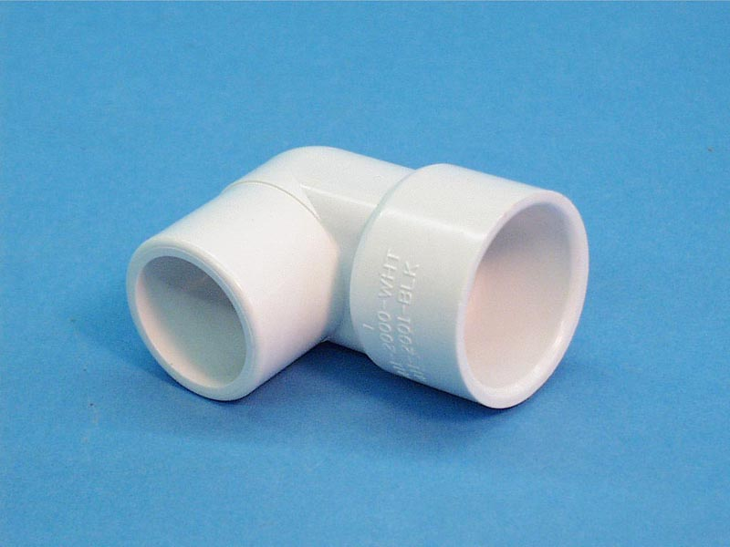 411-2000 - Fittings PVC,90 Degree Street Ell,WATERW,1 Inch S x 1 Inch Spg - 411-2000