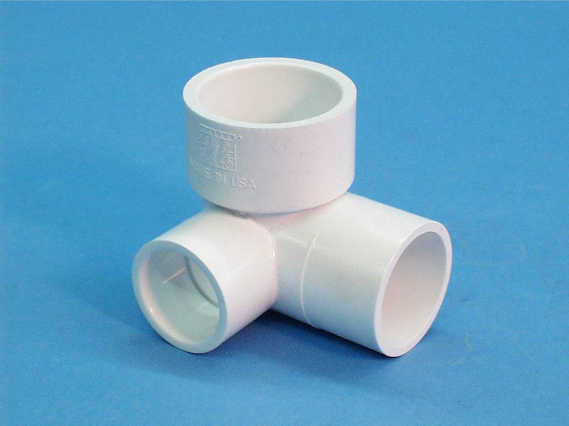 411-4050 - Fittings PVC,90 Degree Ell,WATERW,1-1/2 Inch S x 1-1/2 Inch Spg x 1 Inch S - 411-4050