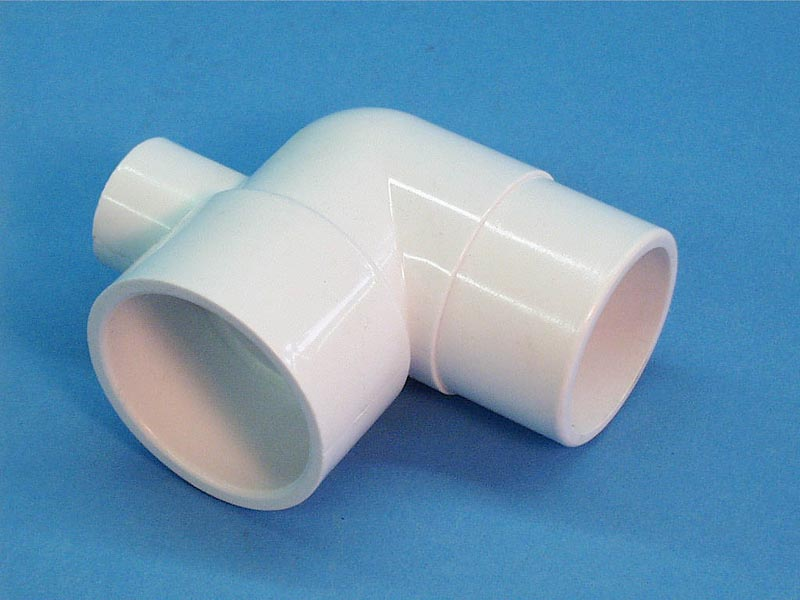 411-4060 - Fittings PVC,90 Degree Ell,WATERW,3/4 Inch Spg x 3/4 Inch RB - 411-4060