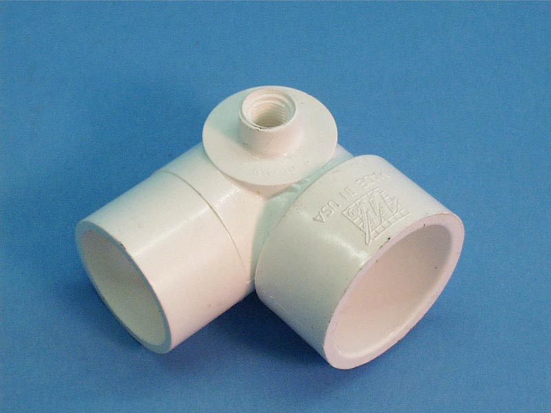 411-4070 - Fittings PVC,90 Street Ell,WATERW,1-1/2 Inch Sx1-1/2 Inch Spgx3/8 Inch FPT - 411-4070